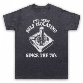I've Been Self Isolating Since The 70's Atari Joystick T-Shirt T-Shirts
