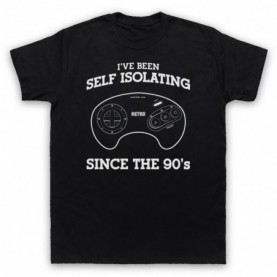 I've Been Self Isolating Since The 90's Mega Drive Console Controller T-Shirt T-Shirts