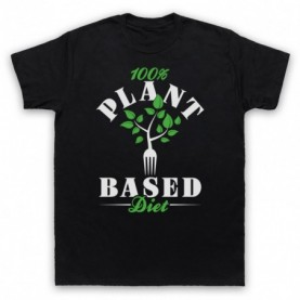 100% Plant Based Diet Vegan Vegetarian Culture T-Shirt T-Shirts