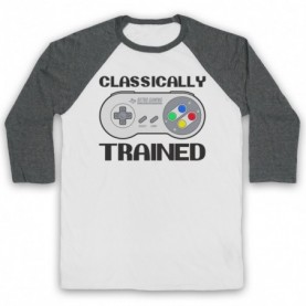 Classically Trained SNES Console Controller Baseball Tee Baseball Tees