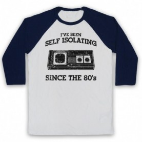 I've Been Self Isolating Since The 80's Master System Console Controller Baseball Tee Baseball Tees