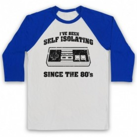 I've Been Self Isolating Since The 80's NES Console Controller Baseball Tee Baseball Tees