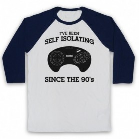 I've Been Self Isolating Since The 90's Mega Drive Console Controller Baseball Tee Baseball Tees