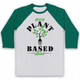 100% Plant Based Diet Vegan Vegetarian Culture Baseball Tee Baseball Tees