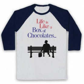Forrest Gump Life Is Like A Box Of Chocolates Baseball Tee Baseball Tees