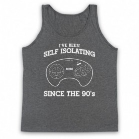 I've Been Self Isolating Since The 90's Mega Drive Console Controller Tank Top Vest Tank Top Vests