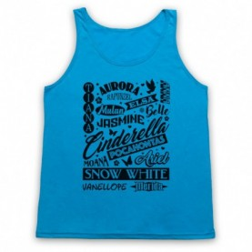 Cartoon Princess Names Typography Tank Top Vest Tank Top Vests