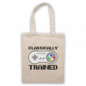 Classically Trained SNES Console Controller Tote Bag Tote Bags