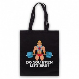 He-Man Do You Even Lift Bro? Gym Parody Tote Bag Tote Bags