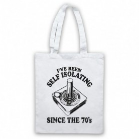 I've Been Self Isolating Since The 70's Atari Joystick Tote Bag Tote Bags