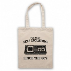 I've Been Self Isolating Since The 80's Master System Console Controller Tote Bag Tote Bags