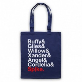 Buffy The Vampire Slayer Character Names List Tote Bag Tote Bags