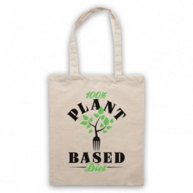 100% Plant Based Diet Vegan Vegetarian Culture Tote Bag Tote Bags