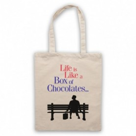 Forrest Gump Life Is Like A Box Of Chocolates Tote Bag Tote Bags