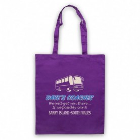 Gavin & Stacey Dave's Coaches Tote Bag Tote Bags