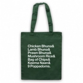Gavin & Stacey Smithy Indian Order Tote Bag Tote Bags