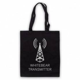 Black Mirror Whitebear Transmitter Tote Bag Tote Bags
