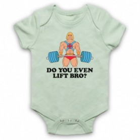 He-Man Do You Even Lift Bro? Gym Parody Baby Grow Bib Baby Grows & Bibs