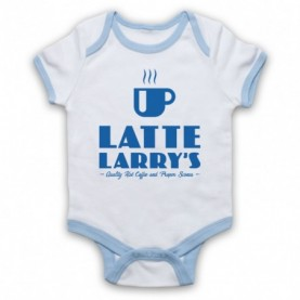 Curb Your Enthusiasm Latte Larry's Baby Grow Bib Baby Grows & Bibs