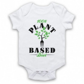 100% Plant Based Diet Vegan Vegetarian Culture Baby Grow Bib Baby Grows & Bibs