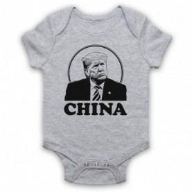 Donald Trump China Baby Grow Bib Baby Grows & Bibs