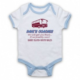 Gavin & Stacey Dave's Coaches Baby Grow Bib Baby Grows & Bibs