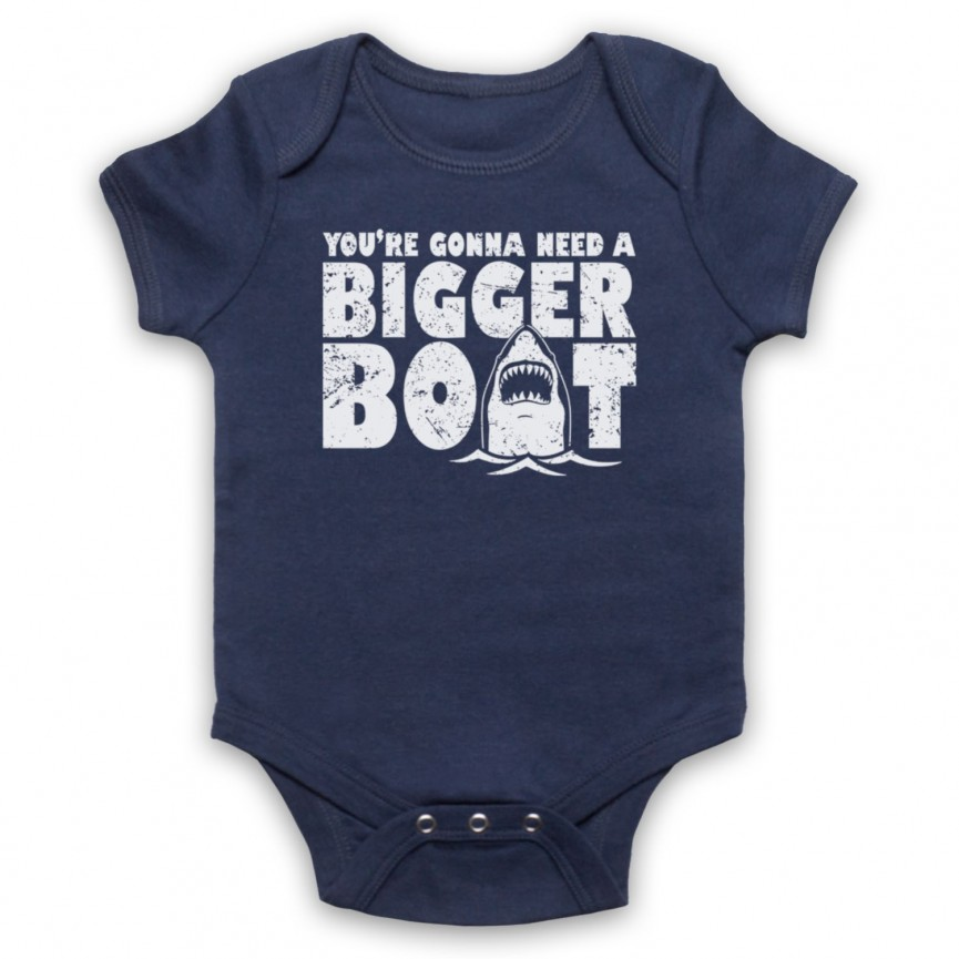 Jaws You're Gonna Need A Bigger Boat Baby Grow Bib Baby Grows & Bibs