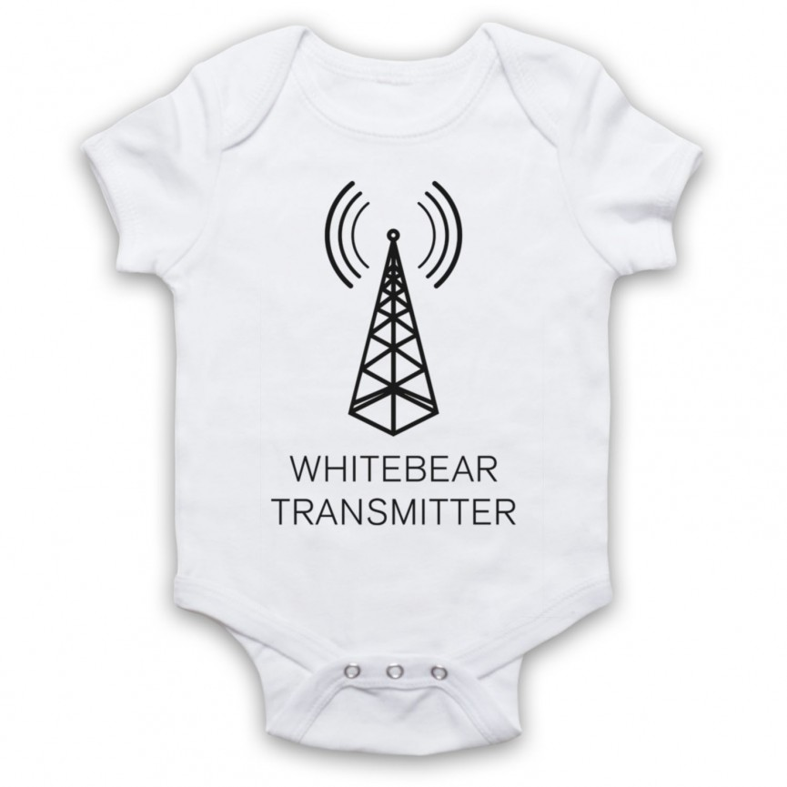 Black Mirror Whitebear Transmitter Baby Grow Bib Baby Grows & Bibs