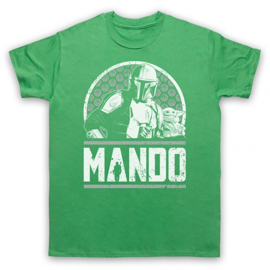 Mandalorian Star Wars Mando Mens Green T-Shirt