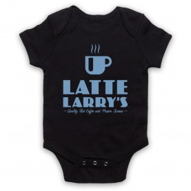 Curb Your Enthusiasm Latte Larry's Black Baby Grow
