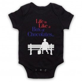 Forrest Gump Life Is Like A Box Of Chocolates Black Baby Grow