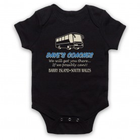 Gavin & Stacey Dave's Coaches Black Baby Grow