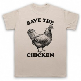 Save The Chicken Animal Rights Protest Slogan T-Shirt T-Shirts