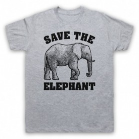 Save The Elephant Animal Rights Protest Slogan T-Shirt T-Shirts