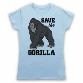 Save The Gorilla Animal Rights Protest Slogan T-Shirt T-Shirts