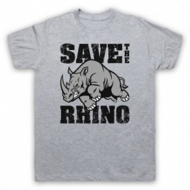 Save The Rhino Animal Rights Protest Slogan T-Shirt T-Shirts