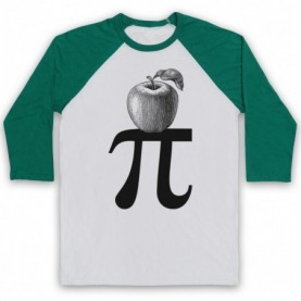 Apple Pi Pie Maths Food Parody Baseball Tee Baseball Tees