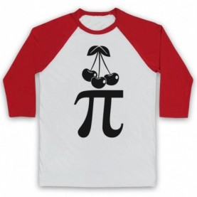 Cherry Pi Pie Maths Food Parody Baseball Tee Baseball Tees