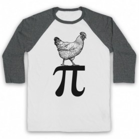 Chicken Pi Pie Maths Food Parody Baseball Tee Baseball Tees