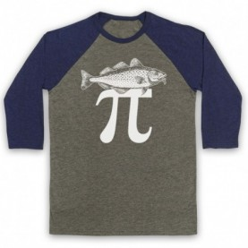 Fish Pi Pie Maths Food Parody Baseball Tee Baseball Tees