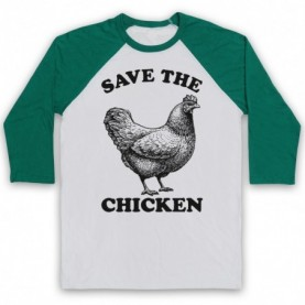 Save The Chicken Animal Rights Protest Slogan Baseball Tee Baseball Tees