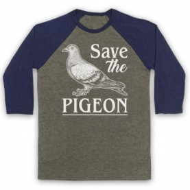 Save The Pigeon Animal Rights Protest Slogan Baseball Tee Baseball Tees