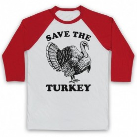 Save The Turkey Thanksgiving Animal Rights Protest Slogan Baseball Tee Baseball Tees