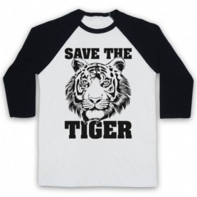 Save The Tiger Animal Rights Protest Slogan Baseball Tee Baseball Tees