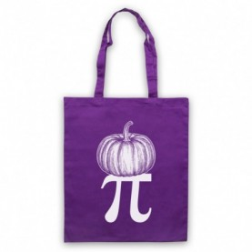 Pumpkin Pi Pie Halloween Maths Food Parody Tote Bag Tote Bags