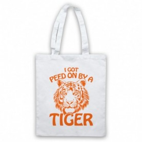 Tiger King I Got Peed On By A Tiger Tote Bag Tote Bags