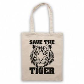 Save The Tiger Animal Rights Protest Slogan Tote Bag Tote Bags