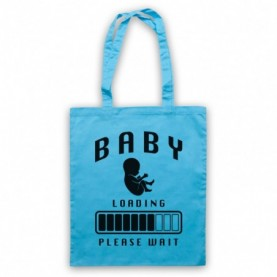 Baby Loading Please Wait Retro Computer Tote Bag Tote Bags