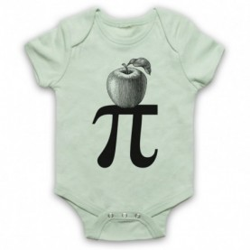 Apple Pi Pie Maths Food Parody Baby Grow Bib Baby Grows & Bibs