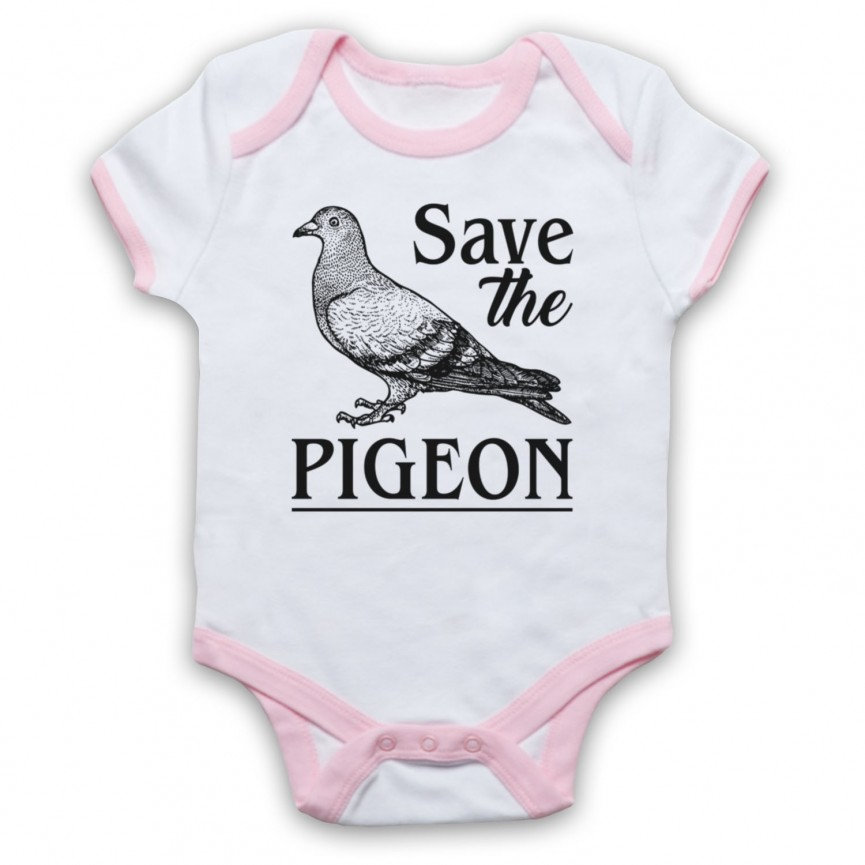Save The Pigeon Animal Rights Protest Slogan Baby Grow Bib Baby Grows & Bibs